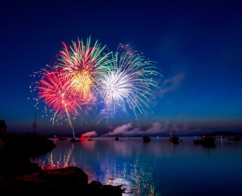 Feuerwerk PHP5 Hintergrundbild