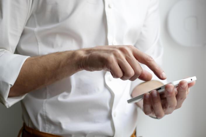 Lokal mobil Marketing Hintergrundbild